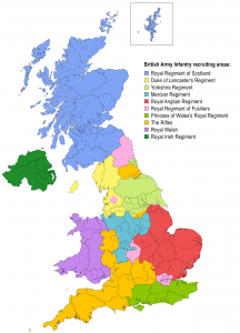 British_Army_Infantry_Recruiting_areas